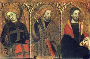 Panneau du Grand Retable du Couvent de Santa Clara, tempera à l'oeuf, tempera grasse et glacis d'huile, entre 1414 et 1415. Museo episcopal de Vic, Catalunya.