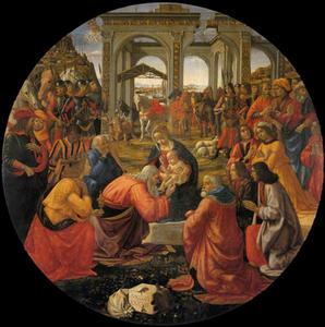 Domenico Ghirlandajo (1449-1494), L'Adoration des Mages, 1487, Tempera grassa, Galleria degli Uffizi, Florence.