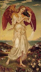Evelyn de Morgan, (1850-1919), Eos, huile sur toile, 1895, Columbia Museum of Art, South Carolina.